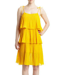 Romeo And Juliet Couture Size Chart Romeo Juliet Couture Mustard Pleated Tiered Ruffle Sleeveless Dress Women