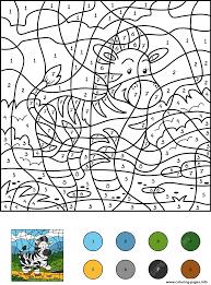 Zebra coloring pages, zebra coloring page, zebras coloring pages, zebra pictures, zebra coloring book pages, zebra color pages. Color By Numbers Zebra Color By Number Coloring Pages Printable