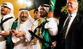 Image result for saudi king dances with trump
