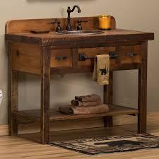 Reclaimed Barnwood Open Vanity. Lodge BathroomCabin BathroomsBasement BathroomSmall  Rustic ... Pinterest