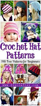 crochet hat patterns 148 free patterns for beginners free crochet patterns diy crafts