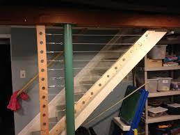 basement stairs railing. Unfinished Basement Railing Keeps Kids Safe Stairs I
