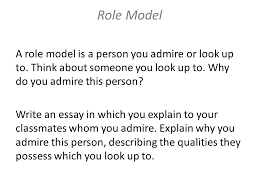 the process the prompt create a ldquo do what rdquo chart rdquo craft 9 a role model is a person you admire