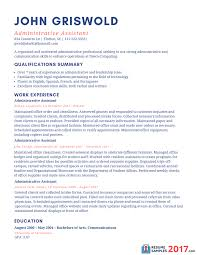 Sample Administrative Resume Amazing Admin Resume Examples