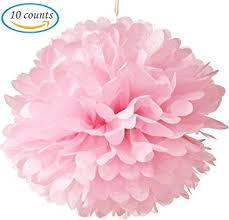 Paper Ball Decorations Amazon Amazon 60pcs Tissue Hanging Paper Pompoms Flower Ball 2