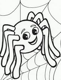 Small Picture Printable Spiders Coloring Coloring Pages