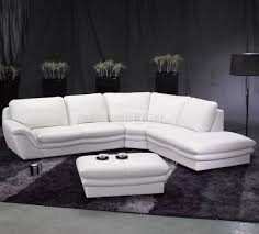 white leather contemporary sectional sofa wottoman