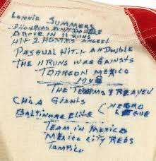 Hake's - NEGRO LEAGUE PLAYER LONNIE SUMMERS MEXICAN LEAGUE FULL FLANNEL  1948 UNIFORM.