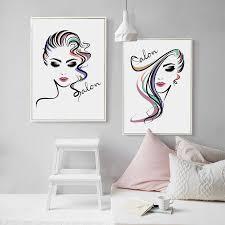 hair salon canvas painting wall