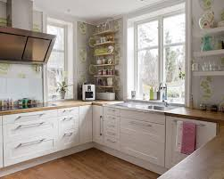 White Kitchen Wooden Floor White Kitchen Cabinets With Wood Counters Lavish Home Design