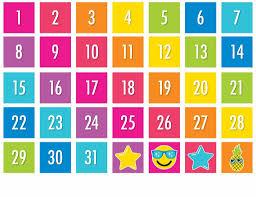 Neon Pop Neon Pocket Chart Calendar