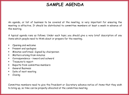 How To Write An Agenda Of A Meeting Simple Agenda Template 19 Best Agendas Download In Pdf