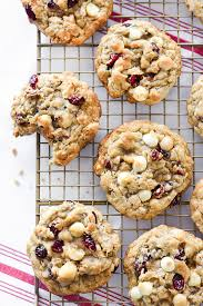 cranberry white chocolate chip and macadamia nut cookies