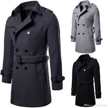 2019 men casual trench coat mens long winter coats hot new fashion slim fit mens man wool uk style outwear overcoat outerwear j181178 from taotianlang