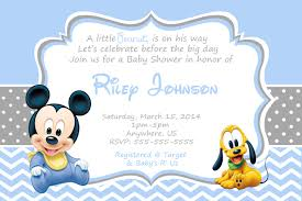 Baby Mickey Mouse Baby Shower Invitations Partyexpressinvitations