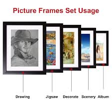voilamart picture frames set of 26 multi pack photo frame set wall gallery kit display two 8x10 in five 5x7 in nineteen 4x6 in with wall template and
