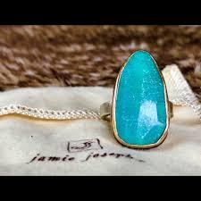 jamie joseph 14k sterling silver amazonite ring