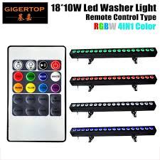 TIPTOP 4XLOT 18x10W RGBW LED Light Under Cabinet 100cm Strip 4IN1 Wall Washer Accent Lighting Indoor