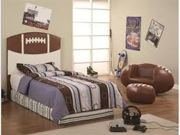 Leather Bedroom Chairs Endearing Image Of Blue Brown Sport Theme Kid Bedroom Decoration