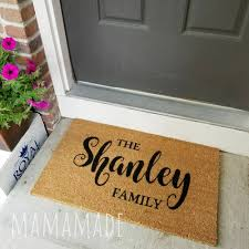 Description. A custom-made, personalized welcome mat ...