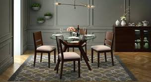 fk catalina 4 seater dining set with glass top table india design fabric round kitchen pretty