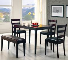 black dining room set with bench. 5pc Cappuccino Dining Set Black Room With Bench D