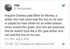 Manchester City Vs Chelsea: Dunne Calls Morata A Disgrace