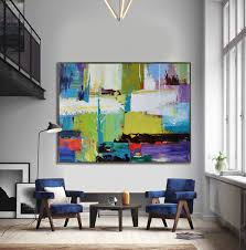 handmade extra large contemporary painting huge abstract canvas art original artwork by leo