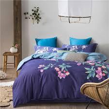 super soft duvet cover set 100 cotton bedding sets botanical flower pattern printed high quality