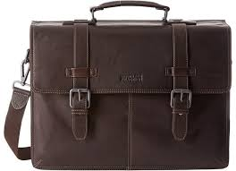 kenneth cole reaction flappy go lucky colombian leather flapover brief briefcase bags