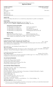Accounting Resume Objective 17 Resume Examples For Accounting Students  Examples Student Frizzigame