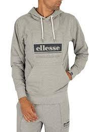 Ellesse Mens Velino Pullover Hoodie Grey Amazon Co Uk