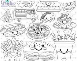 Fast Food Clipart Black And White 90 Images In Collection Page 1