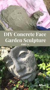 diy concrete face garden sculpture part 1