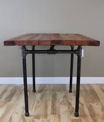 Butcher Block Kitchen Tables The Kitchen Table Reclaimed Wood Butcher Block Pub Dining