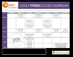Adult Fitness Calendar Templates At Allbusinesstemplates Com
