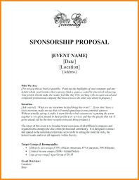 Sample Letter For Event Proposal Proposal Letter For Sponsorship Sample Event Sponsor Confirmation