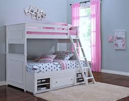 Megan Youth White Twin Over Full Bunk Bed from New Classics (05-242 ...