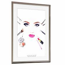 it is a challenge rare design to makeup makeup art frame art panel art poster