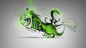 monster energy moto chopper fantasy plastic bike