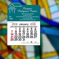 Calendar Sample Design Interesting Church PeelNStick R Calendar GOimprints