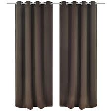 brown blackout curtains. 2 Pcs Brown Blackout Curtains With Metal Rings 53\ R