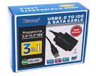 Адаптер  USB to IDE/SATA c  БП Viewcon (VE 158)