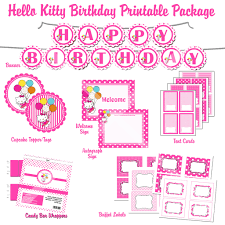 hello kitty birthday party printables printable hello kitty happy birthday hello kitty hybrid printable