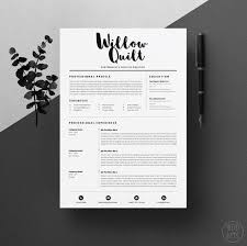 Resume Design Templates 1 4page Template Cv Pack Cover Letter For