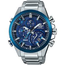 men s casio edifice time traveller bluetooth hybrid smartwatch mens casio edifice time traveller bluetooth hybrid smartwatch alarm chronograph watch eqb 500db 2aer