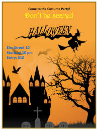 halloween template flyer halloween flyer template orange theme free flyer templates
