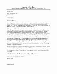 Immigration Paralegal Resume Sample Fresh Legal Cover Letter Sample