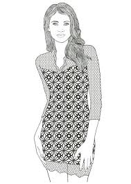 Small Picture related projects fashion coloring pages zecora model coloring