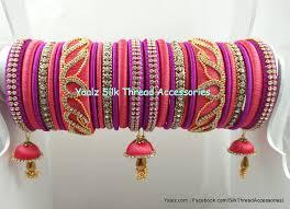 Bridal Bangle Set Designs Yaalz Lotus Design Bridal Bangle Set In Peach Pink Pink